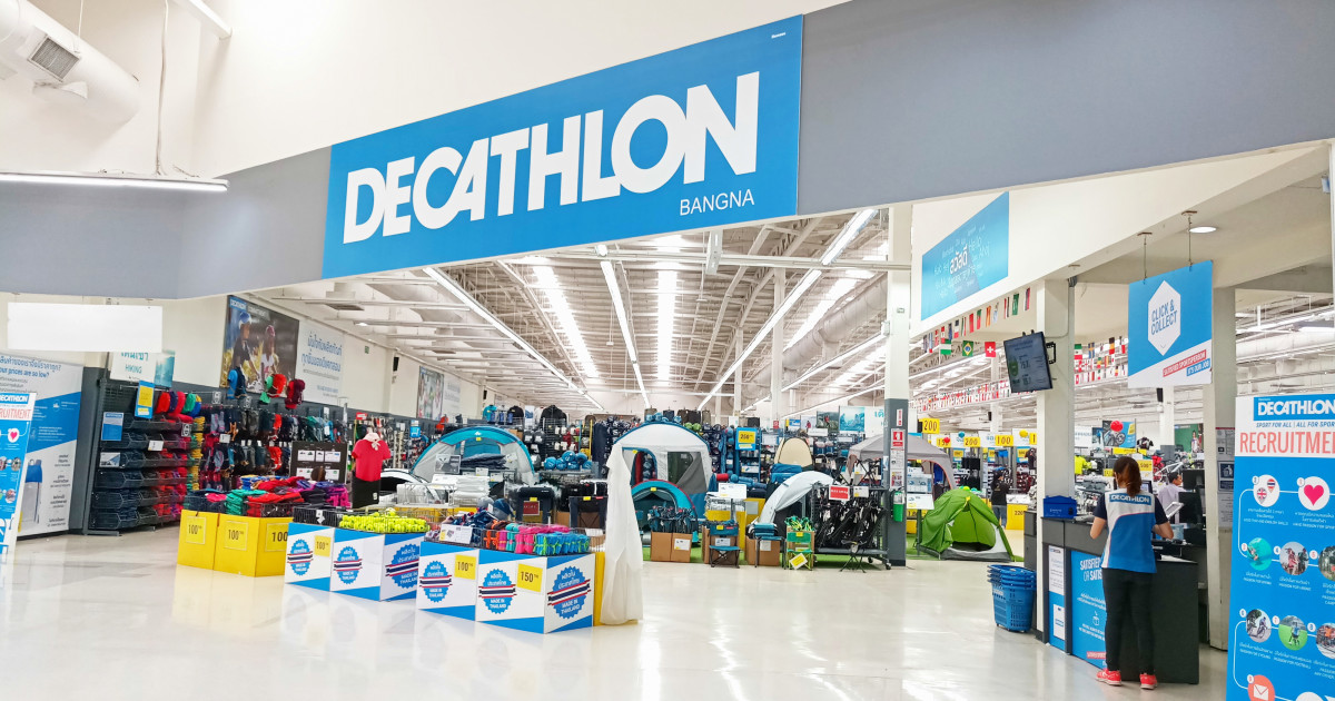 bei decathlon ist ohne marke nix los. Black Bedroom Furniture Sets. Home Design Ideas