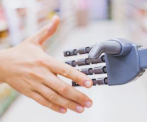 Roboter-Handschlag