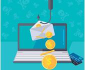 Phishing E-Mail am Angelhaken Cybercrime Sicherheit Verschlüsselung